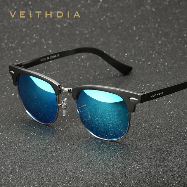 2016 óculos de sol VEITHDIA Al-Mg Liga Polarizadas Do Vintage Retro Óculos De Sol Dos Homens Da Marca Designer Praça Óculos de Sol gafas oculos de sol 6690