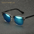 2016 VEITHDIA Al-Mg Alloy Polarized Vintage Retro Sunglasses Men Brand Designer Square Sun Glasses gafas oculos de sol  6690