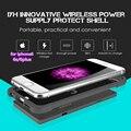 11.11 Беспроводное Зарядное Устройство powerbank Мобильного Телефона Case Для iphone 6 s 6 plus Внешний Портативный Аккумулятор 2500 мАч Литий-полимерный Bateria оболочки