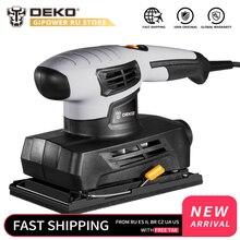 DEKO QD6520B 230 В шлифовальный станок с 15 шт. наждачной бумагой и выхлопом пыли 160 Вт электрический шлифовальный станок домашний DIY электроинструмент для деревообработки