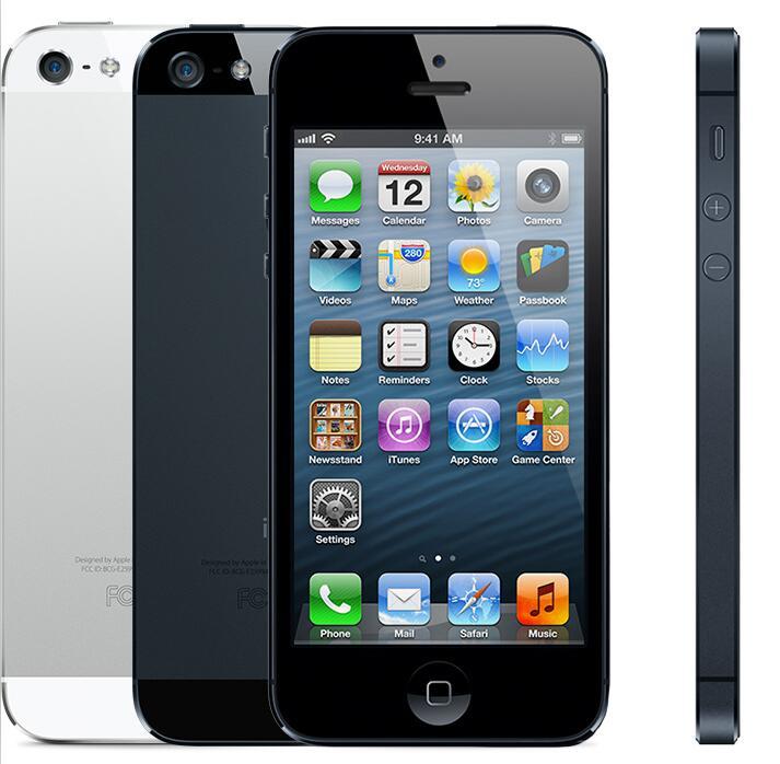 Original Unlocked iPhone 5 16GB 32GB 64GB ROM Dual core 3G 4 0 inches Screen 8MP