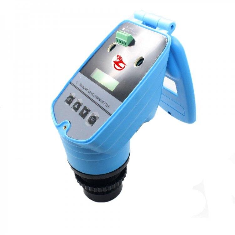 Indicateur de niveau à ultrasons intégré 4-20MA/indicateur de niveau à ultrasons/jauge de niveau à ultrasons 0-5 M/capteur de niveau DC24V