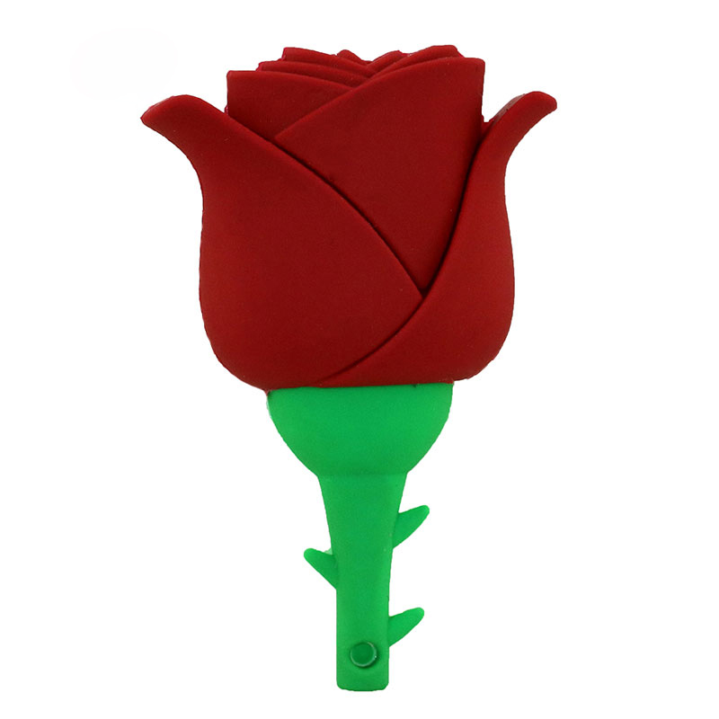 Beauty Rose Design Valentine Gift Silicone USB Flash Drive USB 2.0 - Externe opslag - Foto 2