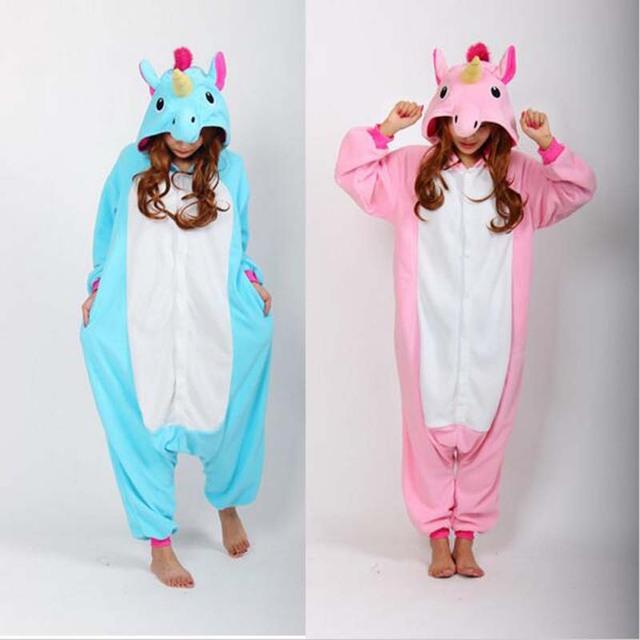 Adult Onesie Pajama Women Pajamas Adults Cosplay Cartoon Animal Onesies  Sleepwear Flannel Wholesale Christmas Blue Pink Unicorn 486fc4c04