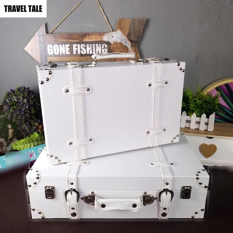 TRAVEL TALE European retro hand suitcase wood box antique vintage hand luggage bag