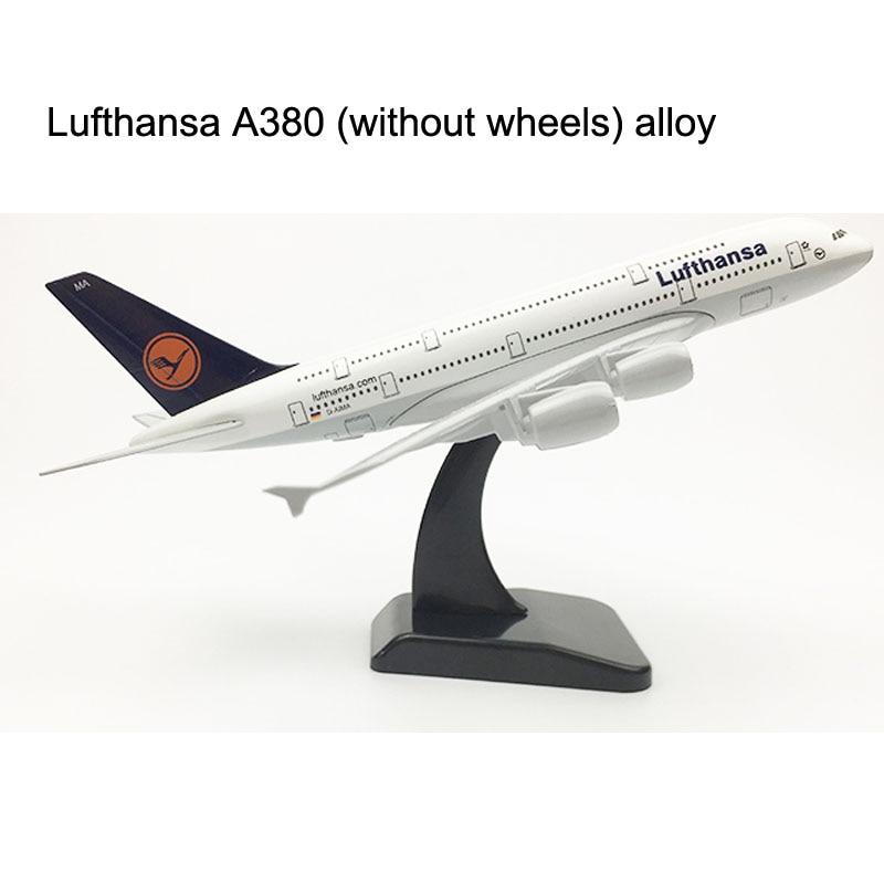 Germany Lufthansa aircraft A380 Airplane model Plane 20CM 16CM Air Passenger plane Alloy Metal Aircraft Toy