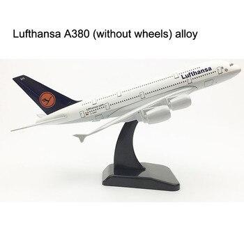 цена на Germany Lufthansa aircraft A380 Airplane model Plane model 20CM 16CM Air Passenger plane model Alloy Metal Aircraft model Toy
