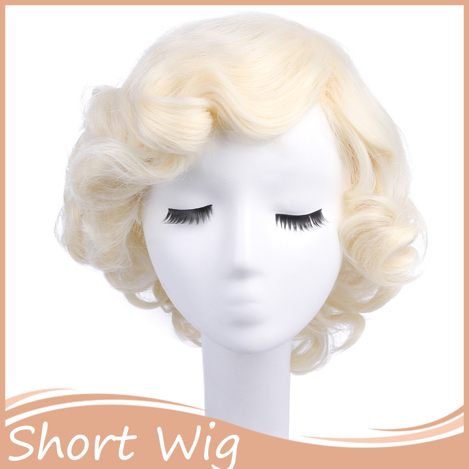 Xmas 1PC Marilyn Monroe Wig Blonde Short Curly Wigs Styled Cosplay Hair wig  for Costume Party Blonde Wigs Sexy for Women on Aliexpress.com  6e36c4baef58