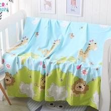 Хлопковая одежда для новорожденных Детское пуховое одеяло крышка Мягкий силиконовый чехол с рисунком из мультфильма для маленьких постельные принадлежности одеяло Одеяло дышащее одеяло крышки милый одного предмета для Стёганое одеяло крышки