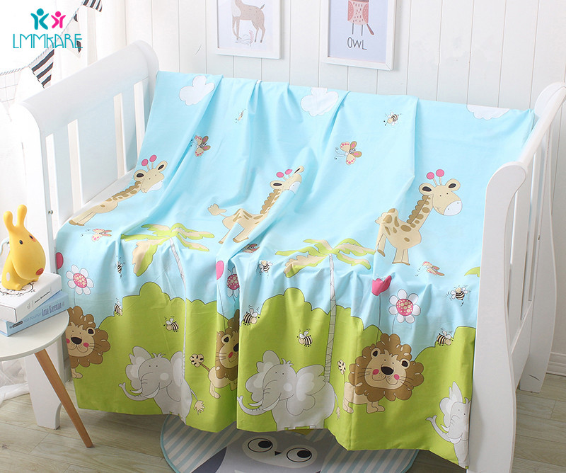 Cotton Newborns Baby Duvet Cover Cartoon Soft Baby Bedding Quilt Blanket Breathable Comforter Covers Cute Kid Single Quilt Cover