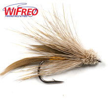 Wifreo 10PCS Brown Muddler Minnow Trout Fly Fishing Streamer Flies Size # 6 with Free Box Package