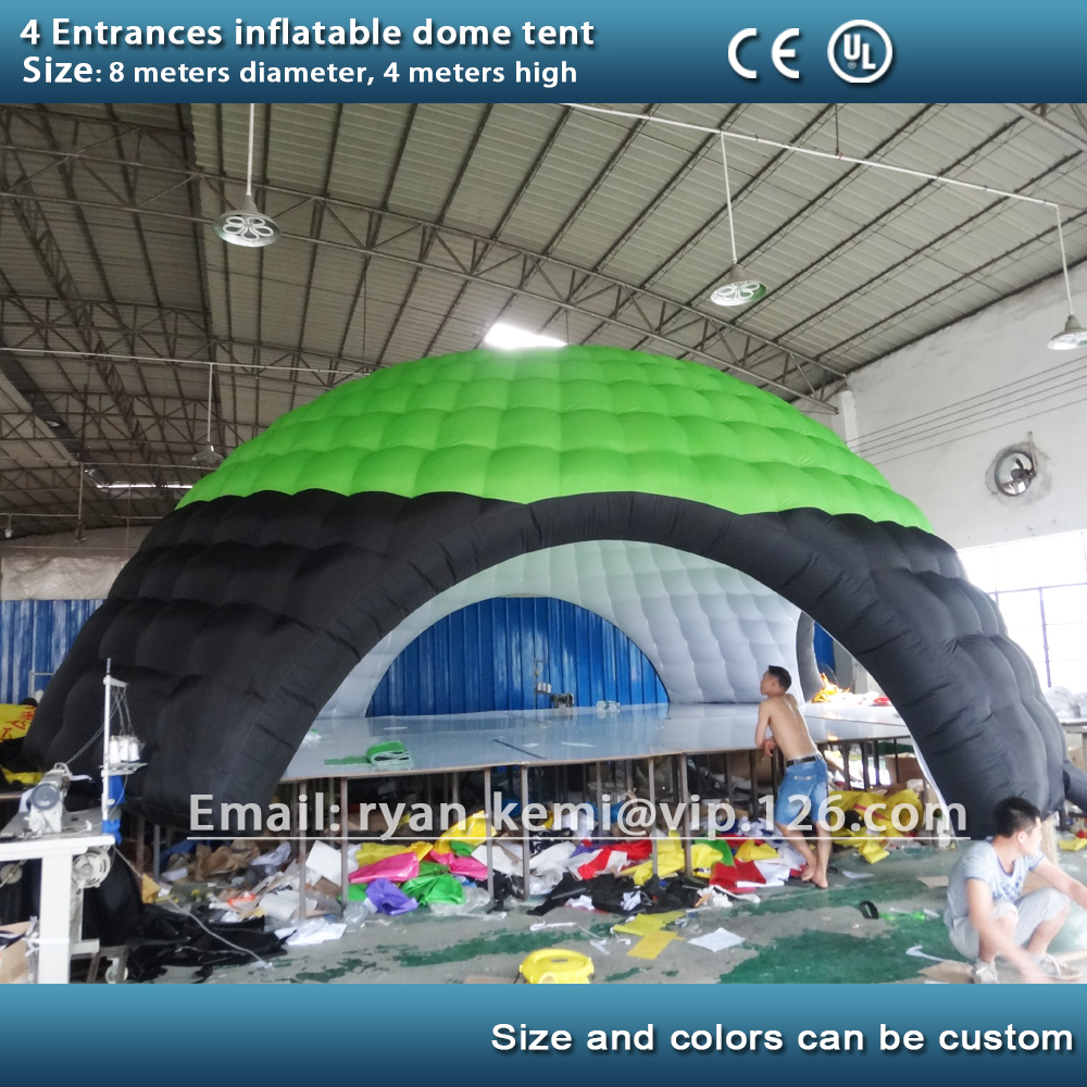 4 entrances 8m inflatable dome tent inflatable advertising tent inflatable party tent outdoor canopy inflatable cartoon customized advertising giant christmas inflatable santa claus for christmas outdoor decoration