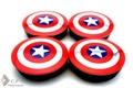 4PC 56mm Aluminum Captain America Styling Car Wheel Center Caps Emblem For Hilux Saveiro Siena Toro 260