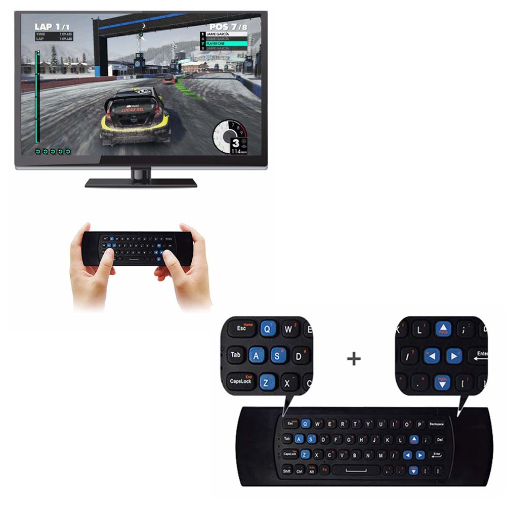 MEASY GP811 2.4G Wireless Keyboard Controller Remote Control Air Mouse for Smart Android TV Box mini PC HTPC Projector original t2 air mouse 2 4g wireless mini keyboard 3d sense motion remote controller t2 air mouse for android smart tv box pc