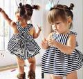 Baby rompers baby girl sleeveless Stripe t-shirts+white lace Shorts clothes roupa de bebe recem nascido macacao de marca ropa