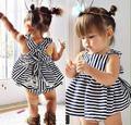 Macacão de bebê bebê menina sem mangas Stripe t-shirt + Shorts de renda branca roupas macacão roupa de bebe recem nascido de marca ropa