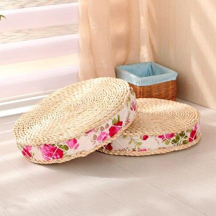 Tapis de maïs faits à la main coussin de siège japonais Tatami Futon Yoga cercle méditation coussin livraison gratuite