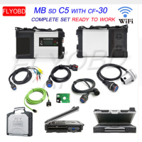 NEW! MB Star C5 SD CONNECT 5 with New 2019.03V Software+Super CF 30 Touchscreen Car Diagnostic laptop CF30 for MB SD C5 Scanner