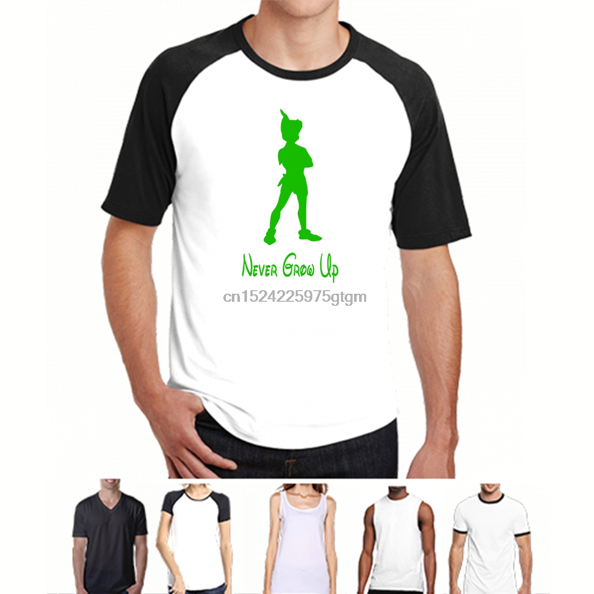 100% Cotton O-neck Custom Printed Men T Shirt Peter Pan Never Grow Up Women T-shirt.webp Aromatic Character And Agreeable Taste