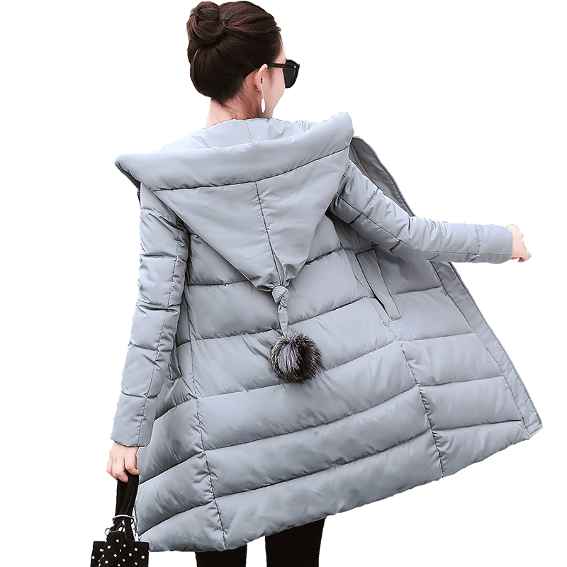 2017 Winter Jacket Women New Fashion Casual Hooded Cotton Down Parkas Thick Warm Outwear Medium Long Plus Size Lady Top Coat geckoistail 2017 new fashional women jacket thick hooded outwear medium long style warm winter coat women plus size parkas
