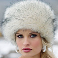 New Winter Female Lei Feng Cap Fox Fur Hat Dome Cap Multicolor Snow Ms Real Raccoon Fur Lei Cap Russian Hats HT287