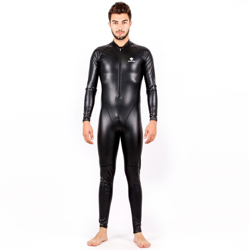 HXBY Arena Competitive Swimming Swimsuit Men PU Waterproof Swimsuit One Piece Professional Swimsuit Full Body Men Swimwear