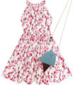 Meninas plum flor vestido com sorvete bolsa de algodão 2016 vestidos de festa de casamento da princesa verão crianças roupa tamanho 4-8