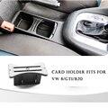 Titular do cartão de carro centro da moeda slot de armazenamento organizador para volkswagen/vw/6/gti/r20 automóveis acessórios interior do carro-styling