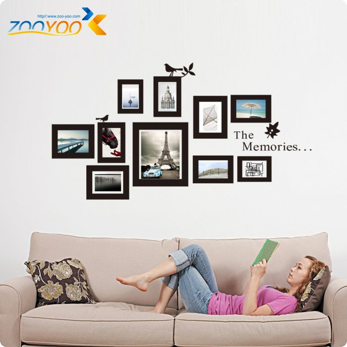 photo frame wall decals 2017 new design removable xl memories photo ...