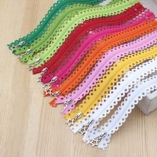 25cm 3# Nylon Lace zippers patchwork Sewing Craft Metal Star Pull zipper 10pcs  free shipping