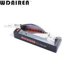 WDAIREN 1PCS Crank Wobblers Swim bait 11cm/18g Fishing Lures 6 Colors Laser Hard Bass Fishing Lure Tackle CrankBait WD-425