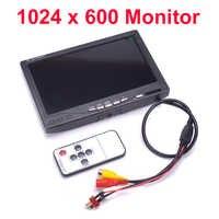 NEUE 7 zoll LCD TFT 1024x600 Monitor mit T stecker Bildschirm FPV Monitor Fotografie Boden Station Für RC teile QAV-R 220mm QAV-X