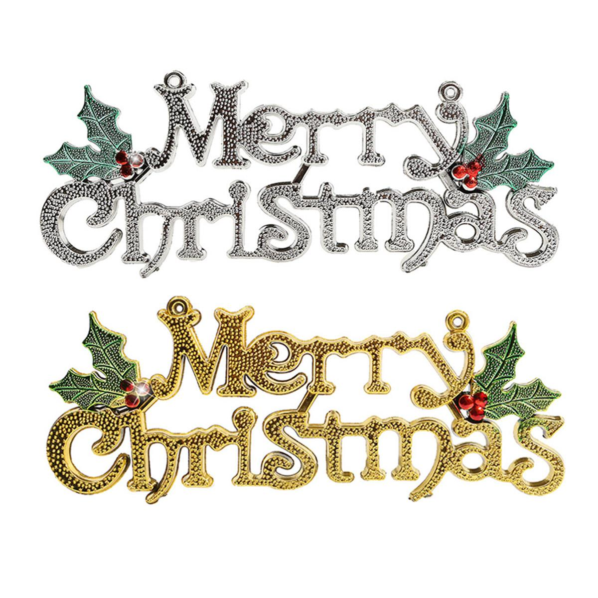 Merry Christmas Silver Gold Ornament Christmas Tree Plates Wreath Christmas  Activities Accessories Decoration Supplies(china