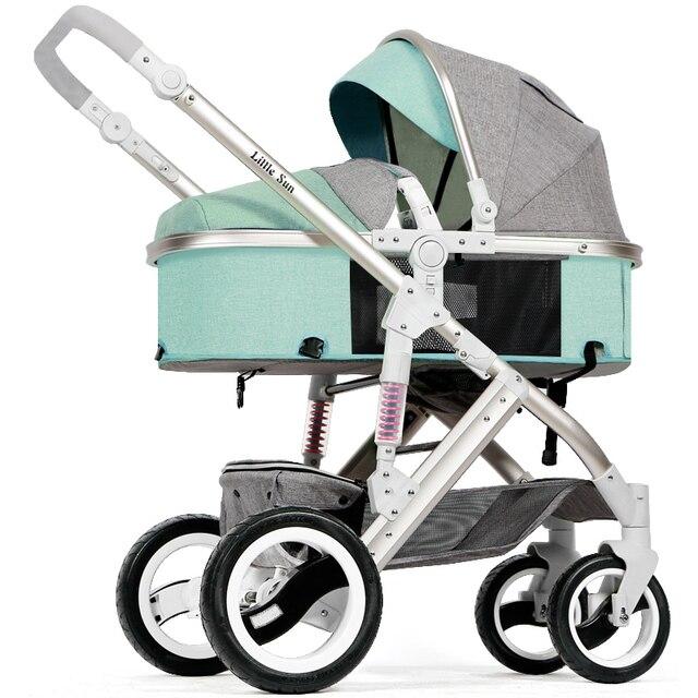 Babyfond 2 in 1 lederen kinderwagen auto baby baby kind trolley zomer licht opvouwbare lederen baby kinderwagen 1