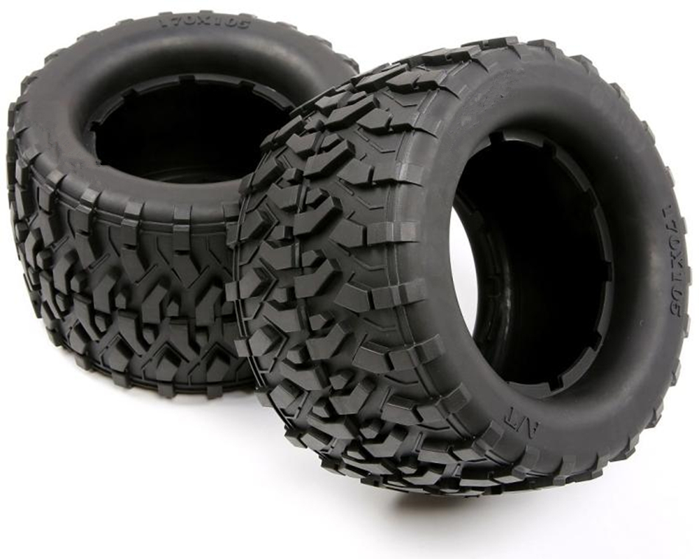 2pcs rc car all terrain tires tyre skin assembly for 1/8 scale brushless electric truck torland spare parts (170mmX105mm) image