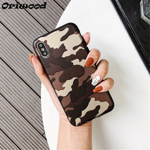 Caso de luxo Retro Para iphone 7 8 Plus 6 6 s Mais Caso Camo Camuflagem Do  Exército Capa de silicone Macio Para iphone 5 SE 6 6 . 4521a8f662f