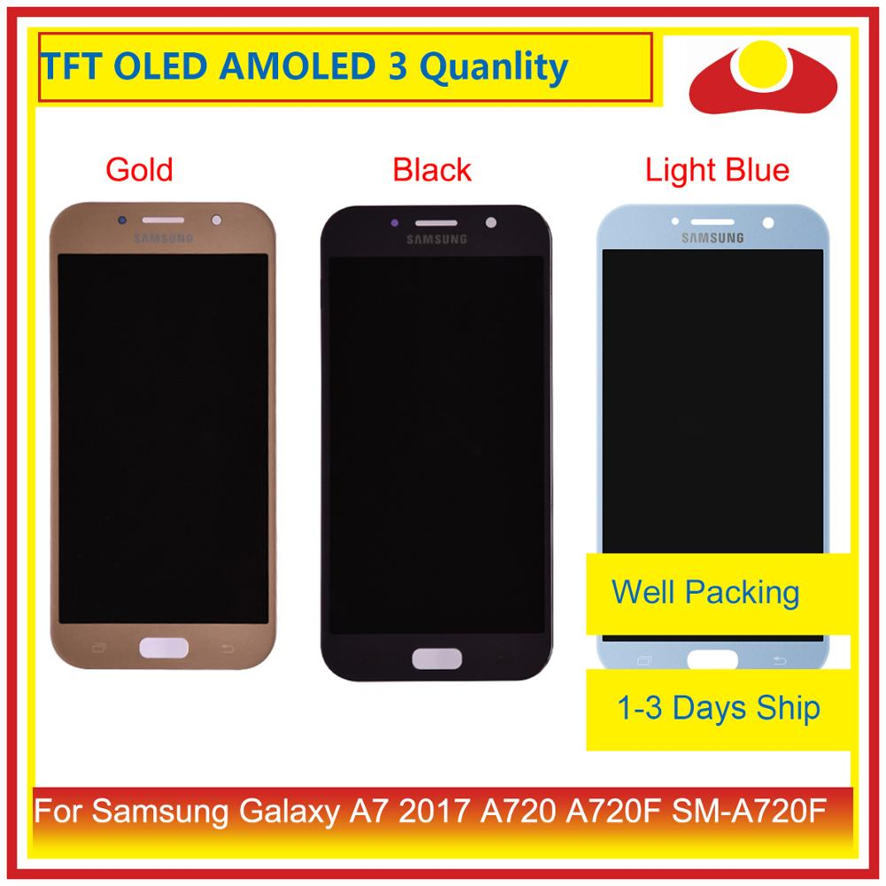 ORIGINAL For Samsung Galaxy A7 2017 A720 A720F SM A720F LCD Display With Touch Screen Digitizer Panel Monitor Assembly Complete-in Mobile Phone LCD Screens from Cellphones & Telecommunications