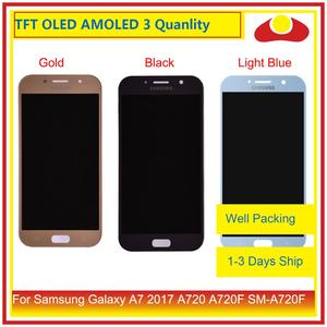 Image 1 - ORIGINAL For Samsung Galaxy A7 2017 A720 A720F SM A720F LCD Display With Touch Screen Digitizer Panel Monitor Assembly Complete