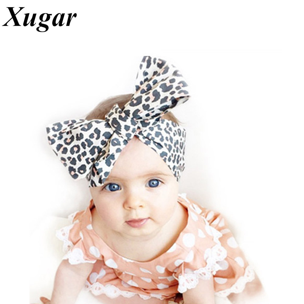 Diy hair accessories for baby girl - Diy High Quality Korean Fabric Leopard Elastic Headbands Hair Bow For Baby Girls Children Hair Accessories