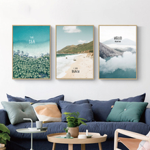 Nordic Poster Home Decoration On Canvas Mountain Forest Sea Beach Landscape Print HD Painting Modern Style Wall Artwork Picture