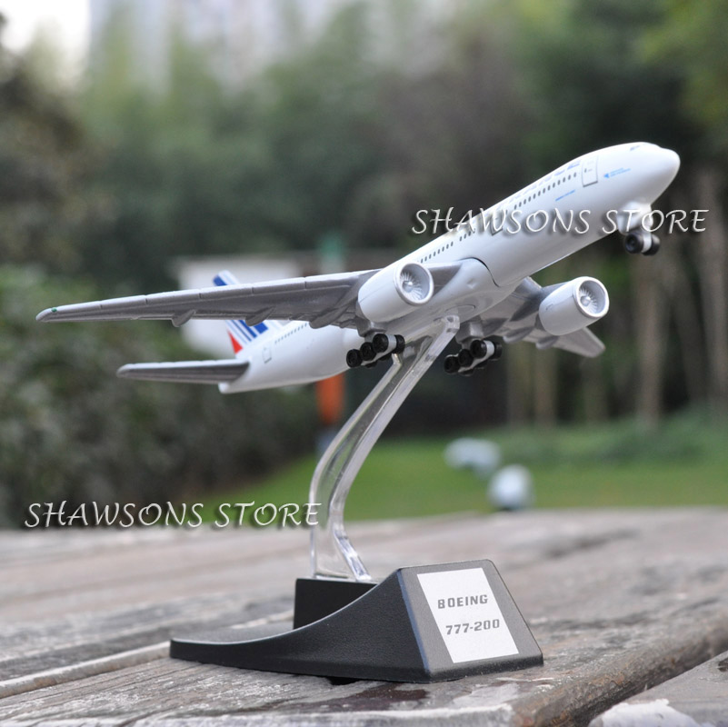 DIECAST METAL 1:460 PLANE MODEL BOEING 777-200 AIR FRANCE AIRLINER REPLICA model aircraft