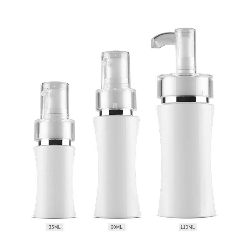 300 шт. 35/60/110 мл контейнер с косметикой пустые бутылки для многоразового использования насос для крема прессованные спрей гель для душа шампу