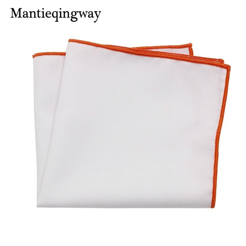 Mantieqingway Men's Suits Towel Solid Pocket Square Handkerchief Cotton Pocket Chest Towel Wedding Handkerchief Male Hankies