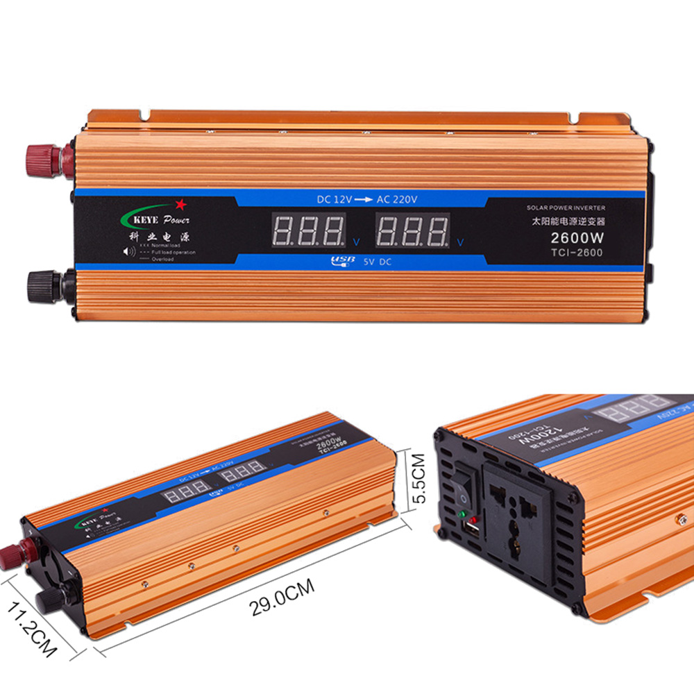 Car Inverter 2600w Dc 12v To Ac 220v Digital Display Voltage Circuitthe Circuit Converterdc Converter12v Aeproductgetsubject