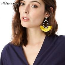 Miwens Brand Bohemian Tassel Drop Earrings Multicolor Statement Dangle Earring For Women Wedding Bride Accessory Bijouterie 8991