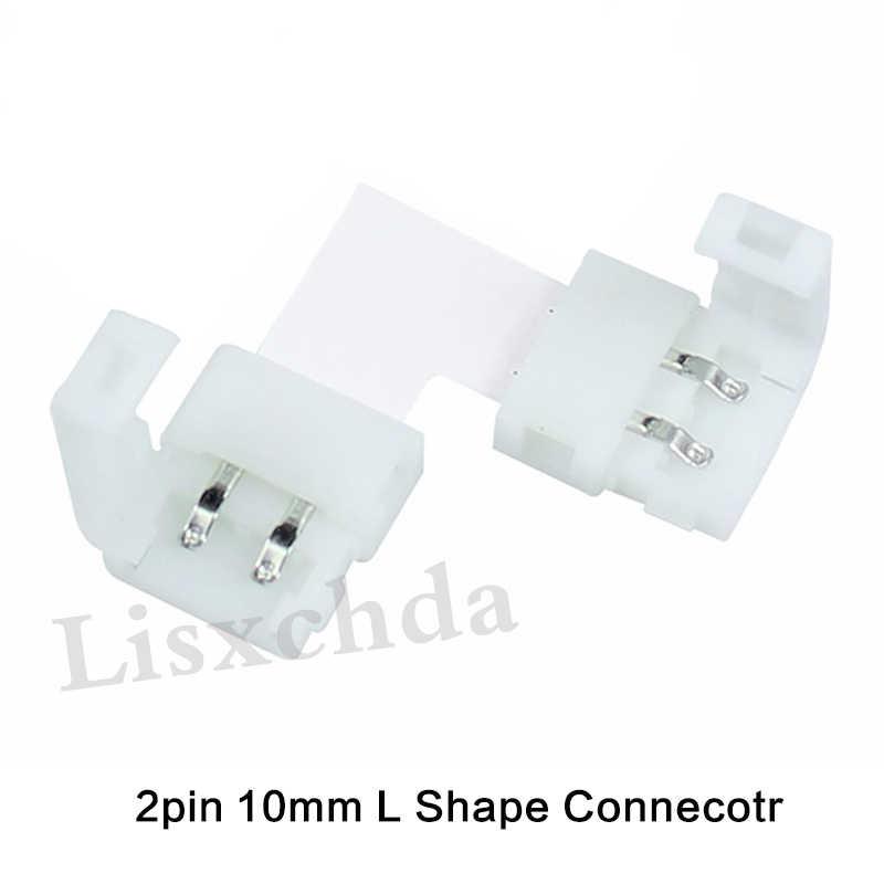 Mejor Precio, conector LED en forma de L de 2 pines, 3 pines, 4 pines, 8mm, 10mm, para codo de conexión, ángulo recto, 3528, 2811, 2812, 5050, tira LED RGB
