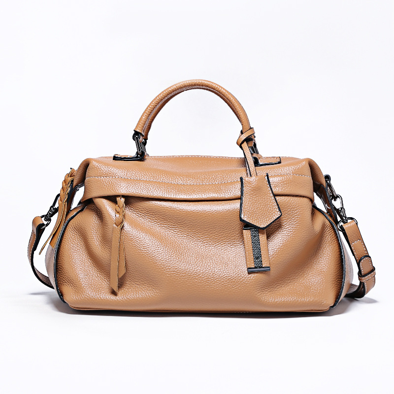 luxury Boston tote bag Genuine Leather handbags women shoulder bags clutch ladies hand bags bolsos grandes para mujer sac a main women luxury handbags brand ladies pu leather shoulder bag handtassen sac a main female popular crossbody bags bolsos mujer