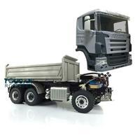 LESU 1/14 Hydraulic RC Sca 6*6 3 way Dumper Truck DIY Tmy 3Axles Model ESC THZH0210