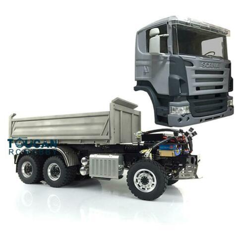 LESU 1/14 hydraulique RC Sca 6*6 3 voies camion à benne basculante bricolage Tmy 3 essieux modèle ESC THZH0210