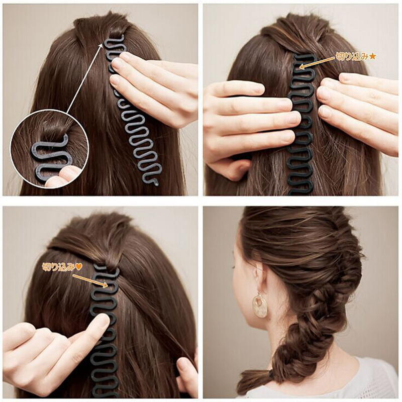 2017 Hot Sale Braiding Tool Magic Hair Clip Braider Stylist Queue Twist Plait Hair Braid DIY Hairstyle Styling Accessories Aug22 best price mgehr1212 2 slot cutter external grooving tool holder turning tool no insert hot sale brand new